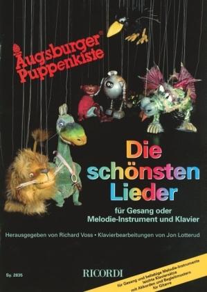 Augsburger Puppenkiste, Die schönsten Lieder, für Gesang oder Melodie-Instrument und Klavier