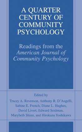 A Quarter Century of Community Psychology