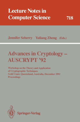 Advances in Cryptology - AUSCRYPT '92