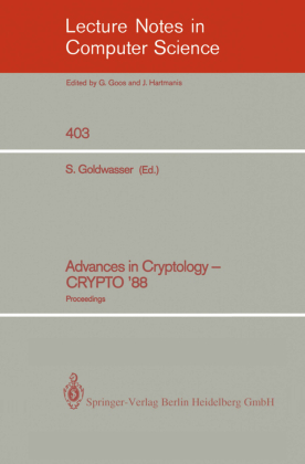 Advances in Cryptology - CRYPTO '88