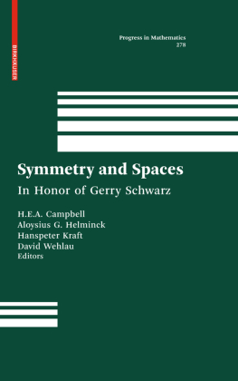Symmetry and Spaces