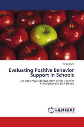 Evaluating Positive Behavior Support in Schools