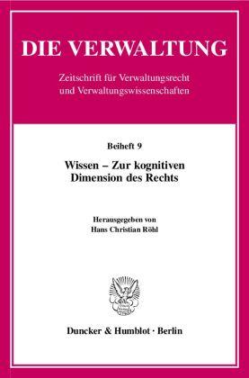 Wissen - Zur kognitiven Dimension des Rechts.