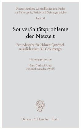 Souveränitätsprobleme der Neuzeit