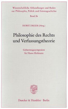 Philosophie des Rechts und Verfassungstheorie.