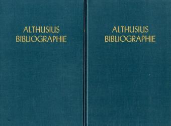 Althusius-Bibliographie.