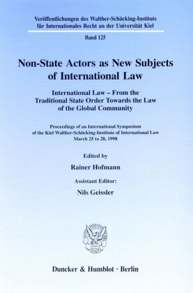 Non-State Actors as New Subjects of International Law.