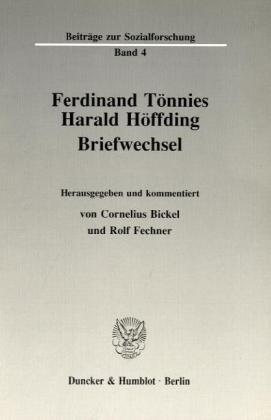 Ferdinand Tönnies - Harald Höffding.