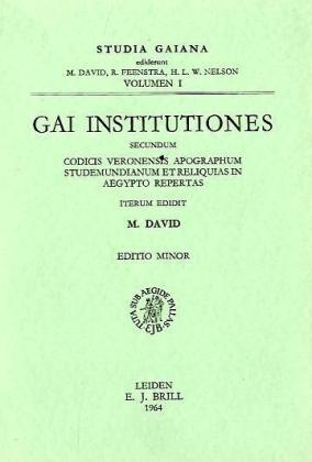 Gai Institutiones. Secundum.