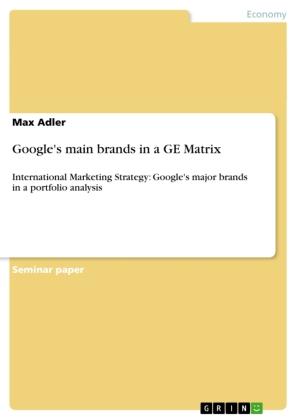 Google's main brands in a GE Matrix