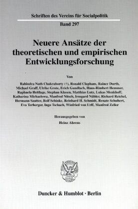 Neuere Ansätze der theoretischen und empirischen Entwicklungsforschung.