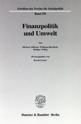 Finanzpolitik und Umwelt.