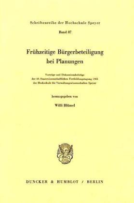 Frühzeitige Bürgerbeteiligung bei Planungen.