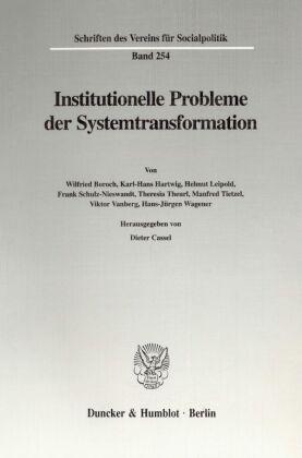 Institutionelle Probleme der Systemtransformation.