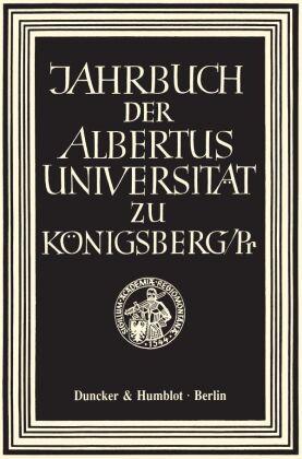 Jahrbuch der Albertus-Universität zu Königsberg/Pr.