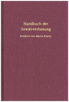 Handbuch der Sowjetverfassung.