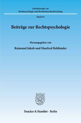 Beiträge zur Rechtspsychologie.