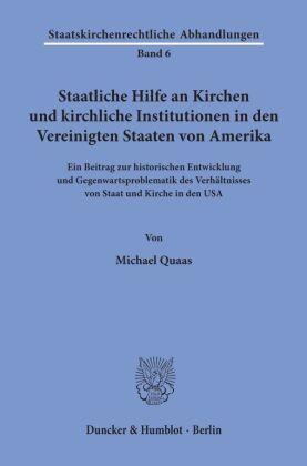 Staatliche Hilfe an Kirchen und kirchliche Institutionen in den Vereinigten Staaten von Amerika.