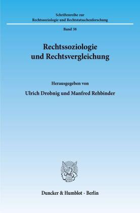 Rechtssoziologie und Rechtsvergleichung.