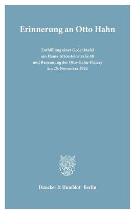 Erinnerung an Otto Hahn.