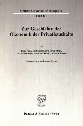 Zur Geschichte der Ökonomik der Privathaushalte.