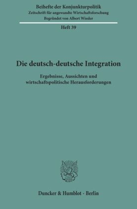 Die deutsch-deutsche Integration.