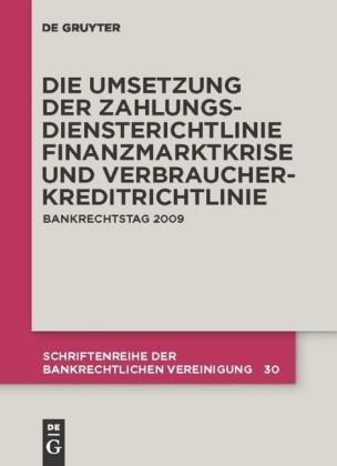 Die zivilrechtliche Umsetzung der Zahlungsdiensterichtlinie
