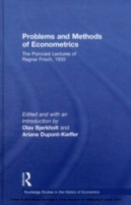 Problems and Methods of Econometrics