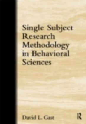 Single-Subject Research Methodology in Behavioral Sciences