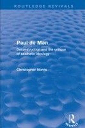 Paul de Man (Routledge Revivals)