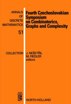 Fourth Czechoslovakian Symposium on Combinatorics, Graphs and Complexity
