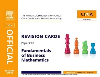 CIMA Revision Card Fundamentals of Business Maths