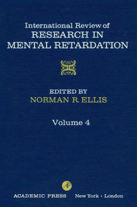 International Review of Research in Mental Retardation, Volume 4