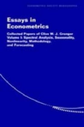 Essays in Econometrics: Spectral Analysis, Seasonality, Nonlinearity, Methodology, and Forecasting. Vol.1