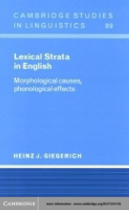Lexical Strata in English