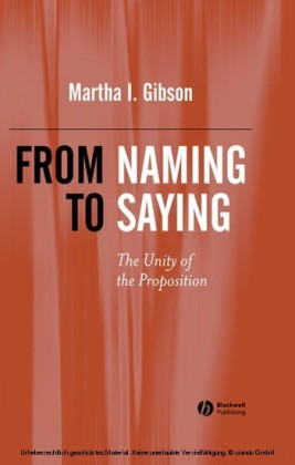 From Naming to Saying