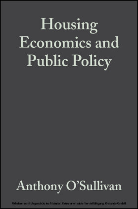 Housing Economics and Public Policy