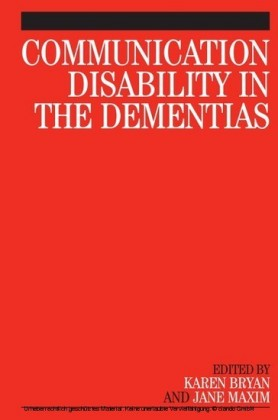 Communication Disability in the Dementias,