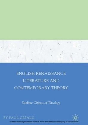 English Renaissance Literature and Contemporary Theory