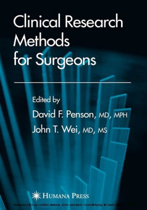 Clinical Research Methods for Surgeons