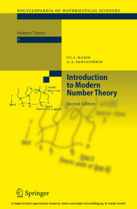 Introduction to Modern Number Theory