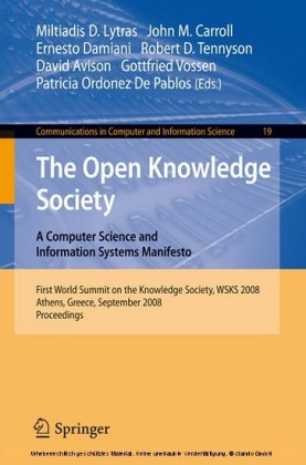 Open Knowlege Society. A Computer Science and Information Systems Manifesto