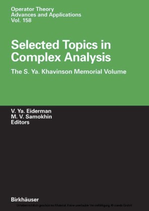 Selected Topics in Complex Analysis