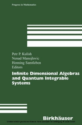Infinite Dimensional Algebras and Quantum Integrable Systems
