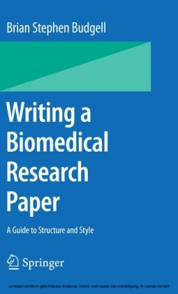 Writing a Biomedical Research Paper