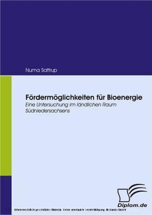 Fördermöglichkeiten für Bioenergie. Eine Untersuchung im ländlichen Raum Südniedersachsens