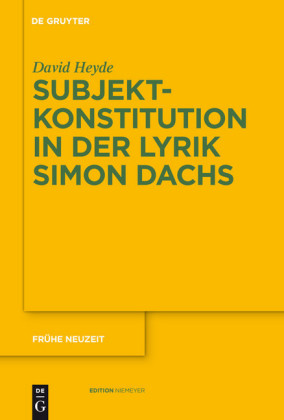 Subjektkonstitution in der Lyrik Simon Dachs