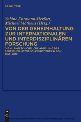 Von der Geheimhaltung zur internationalen und interdisziplinären Forschung