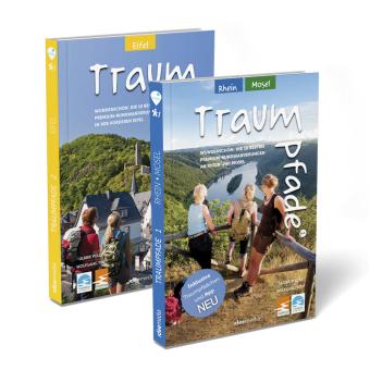 Traumpfade Geschenk-Set. Zwei Bände mit 27 Top-Touren an Rhein, Mosel und in der Eifel. Detail-Karten, GPS-Daten und Höh