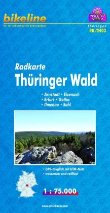 Bikeline Radkarte Thüringer Wald